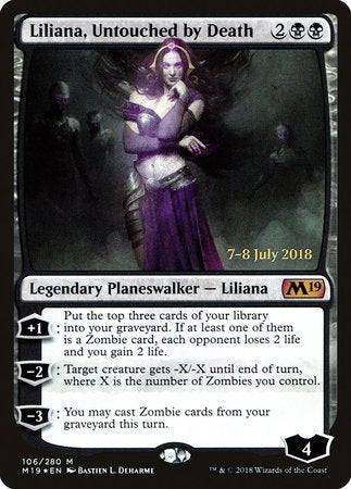 Liliana, Untouched by Death [Core Set 2019 Promos] | Game Haven