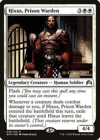 Hixus, Prison Warden [Magic Origins Promos] | Game Haven