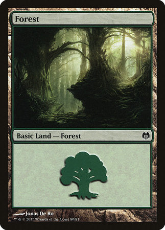 Forest (80) [Duel Decks: Heroes vs. Monsters] | Game Haven