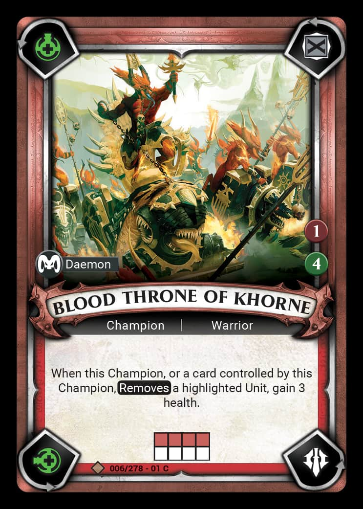 Blood Throne of Khorne | Game Haven