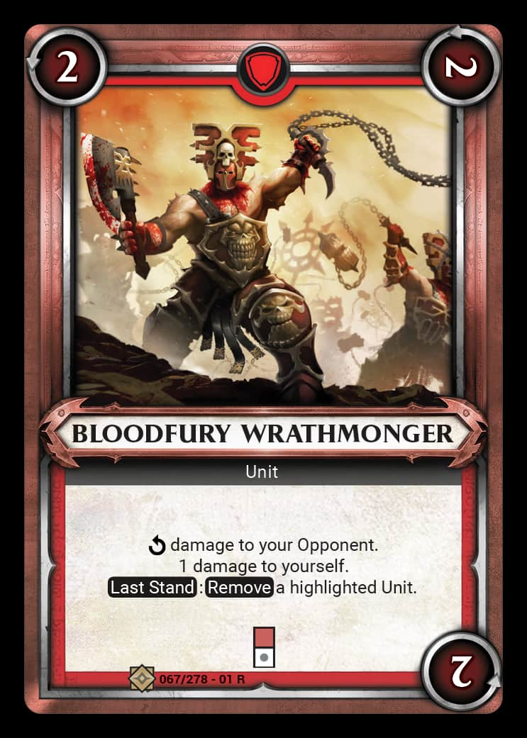 Bloodfury Wrathmonger | Game Haven