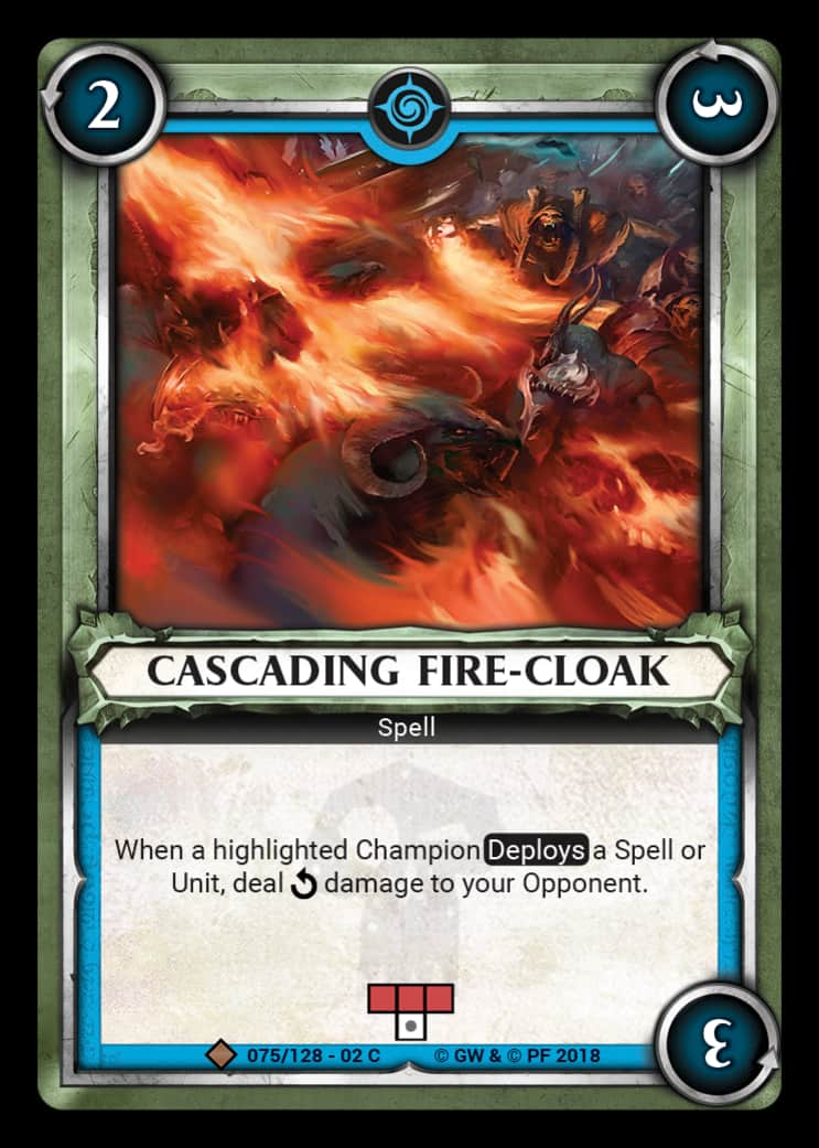 Cascading Fire-Cloak | Game Haven