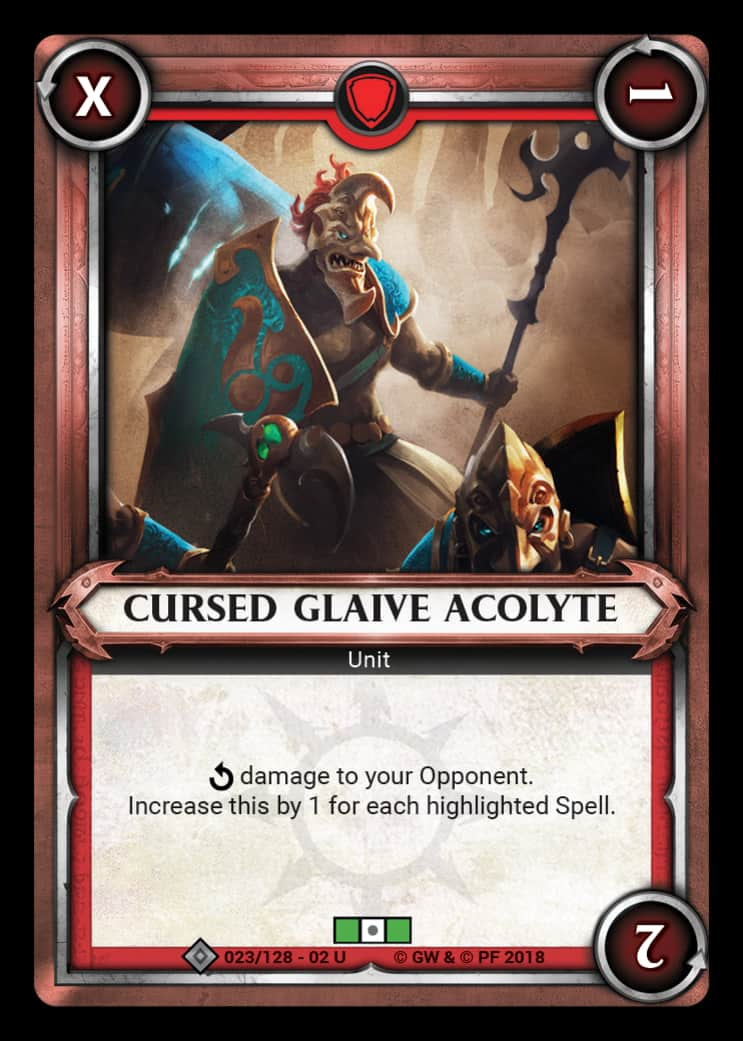Cursed Glaive Acolyte | Game Haven