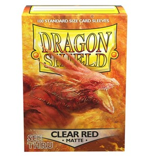 Dragon Shield: Matte Sleeves Clear Red | Game Haven