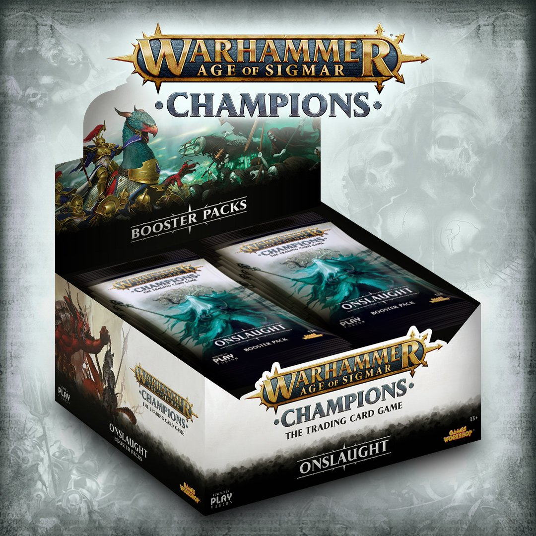 Warhammer Age of Sigmar: Champions Onslaught Booster Box | Game Haven