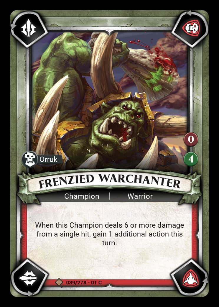 Frenzied Warchanter | Game Haven