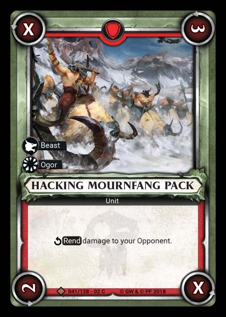 Hacking Mournfang Pack | Game Haven