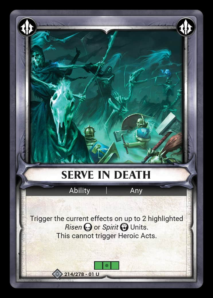 Serve in Death | Game Haven