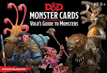 Dungeons & Dragons 5th Edition RPG: Spellbook Cards - Monster Cards Volo's Guide to Monsters