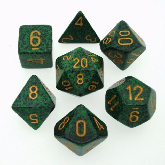 Chessex: 7 Dice Set - Speckled Golden Recon