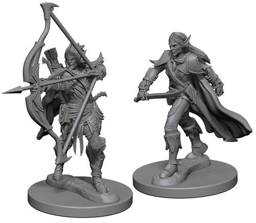 Pathfinder Battles Deep Cuts Miniatures: Elf Male Fighter | Game Haven
