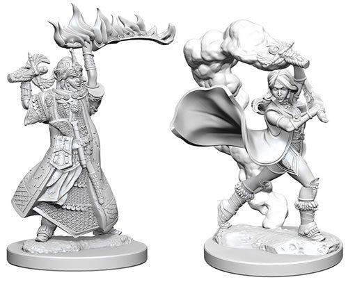 Pathfinder Battles Deep Cuts Miniatures: Human Female Cleric | Game Haven