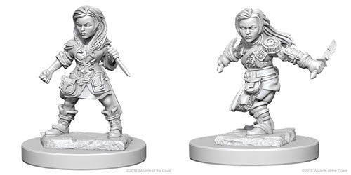 D&D Nolzur's Marvelous Miniatures: Halfling Female Rogue | Game Haven
