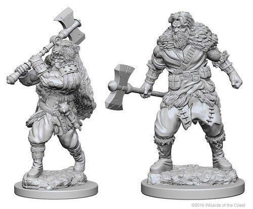 D&D Nolzur's Marvelous Miniatures: Human Male Barbarian | Game Haven