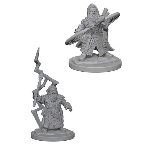 Pathfinder Battles Deep Cuts Miniatures: Dwarf Male Sorcerer | Game Haven
