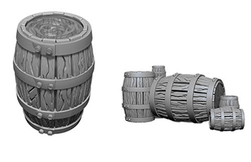 Wizkids Deep Cuts Miniatures: Barrels & Pile of Barrels | Game Haven