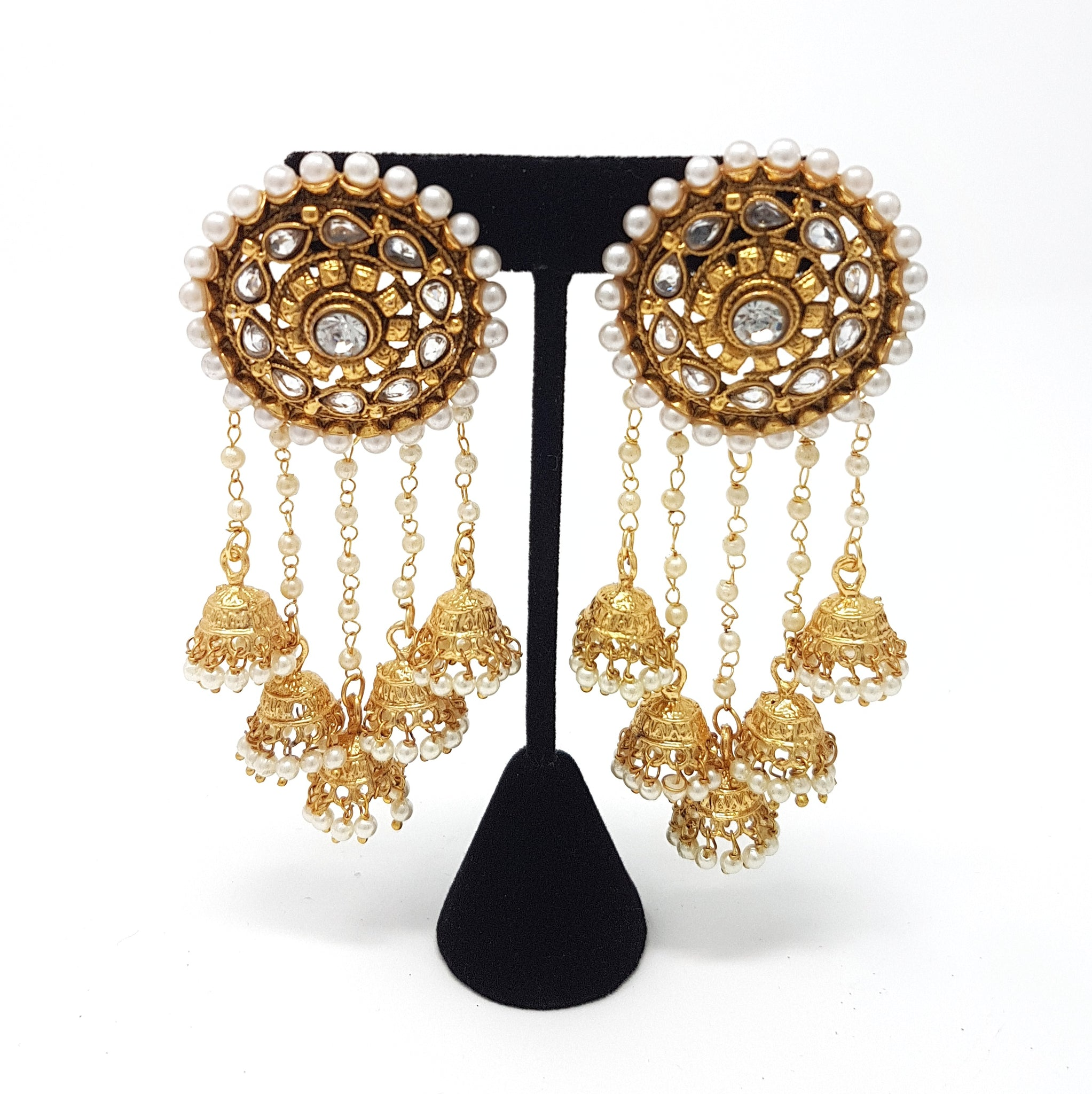chandelier jewellery earrings beaded outlet pearl sale filigree hands ottoman