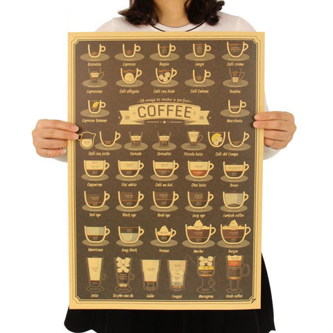 38 Ways To Make Coffee Poster