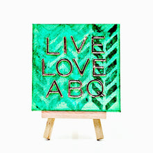 "Emerald Tracks 4""x 4"" LLA Canvas Painting"
