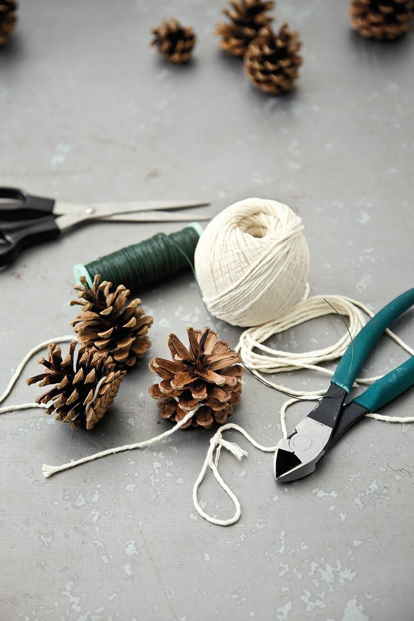 Pinecone Garland Workshop At Spur Line Supply Co.