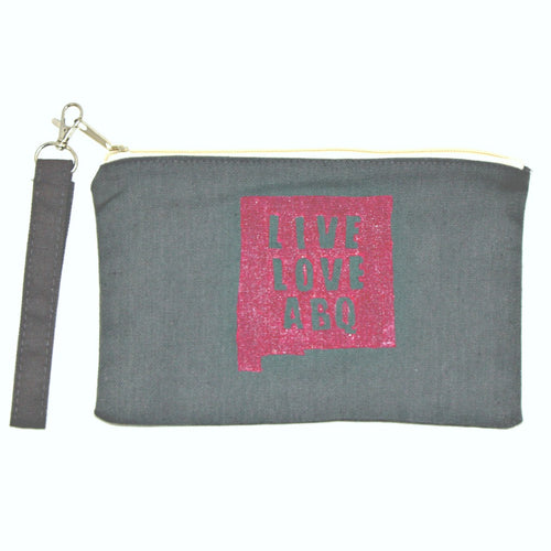 Linen Gray LLA Wristlet Bag