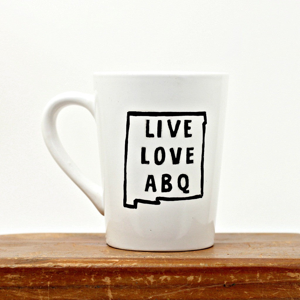 Original Hand Drawn White LLA Mug
