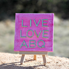 "Pink Denim 4"" x 4"" LLA Canvas Painting"