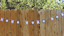 6' LLA Garland Pink Stripes Black Polkadots