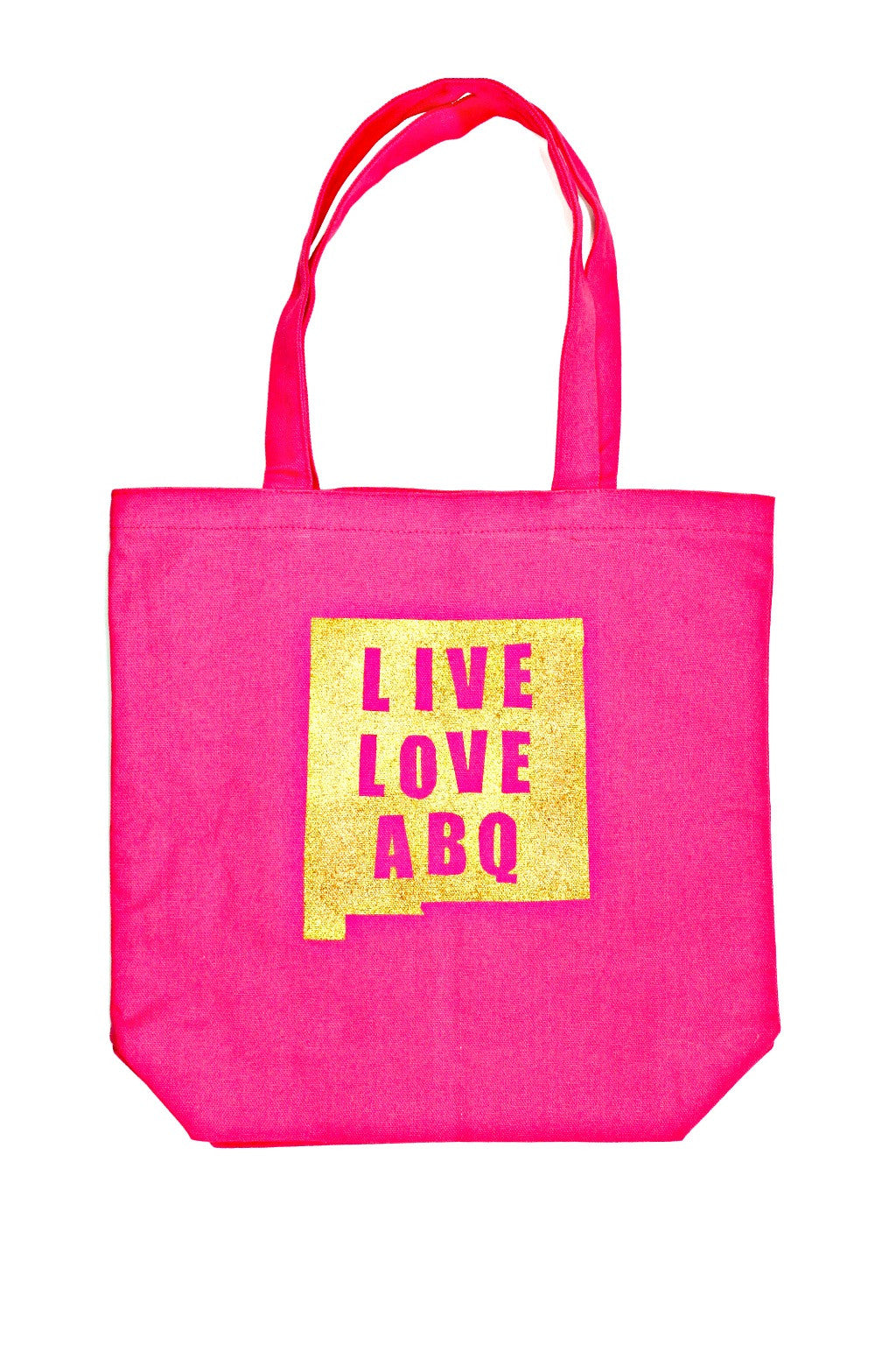 Pink and Gold Medium LLA Cotton Tote