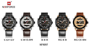 Luxury Sport Leather Band Watch