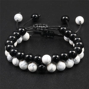 2Pcs/Set Natural Stone Charm Bracelets