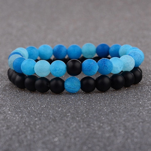 2pcs Set Moon Stone Bracelet