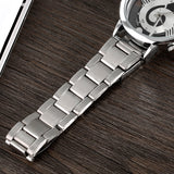 Music Note Skeleton Stainless Steel Watch