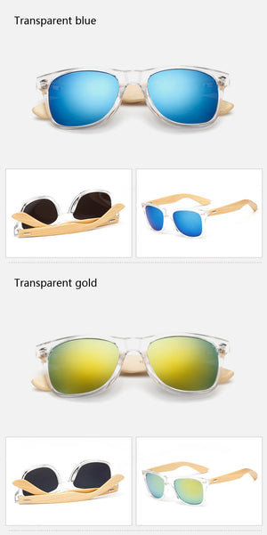 Bamboo Retro Sunglasses