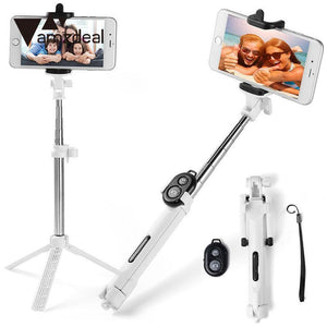 Portable Phone Selfie Stick Bluetooth Monopod Tripod Remote Controller