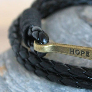 Anchor Unisex Leather Bracelets