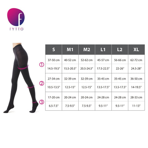 Size Chart Fytto 2126