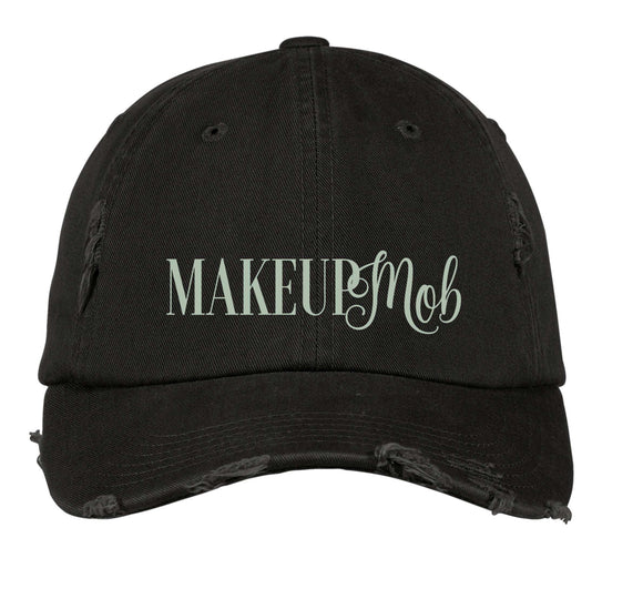 DISTRICT MADE, DISTRESSED, BALL CAP, makeup mob