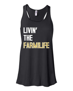 livin' the farmilife junior racerback - 1 color (black)