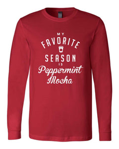 district brand, unisex, crew neck, mom, hooded, long sleeve, graphic design, favorite, season, peppermint, mocha, holiday
