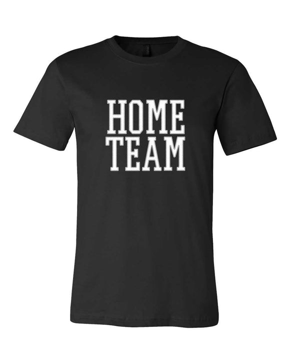 bella, canvas, short sleeve, unisex, mom tee, home team, graphic design, black, white print