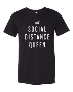 bella, canvas, unisex, tee, mom tee, short sleeve, social distance queen, graphic design