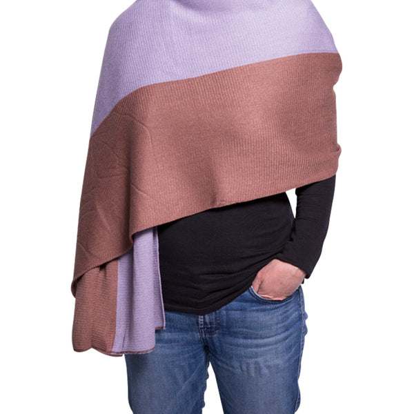 Scarf - Purple & Mauve, Apparel - Kevia Style, LLC