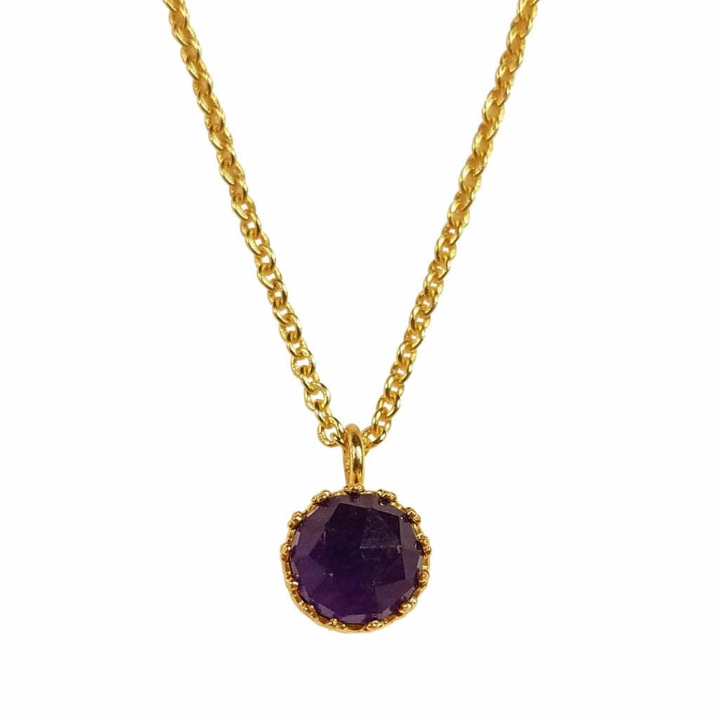 Rococo Necklace - Amethyst Quartz, Necklace - Kevia Style, LLC