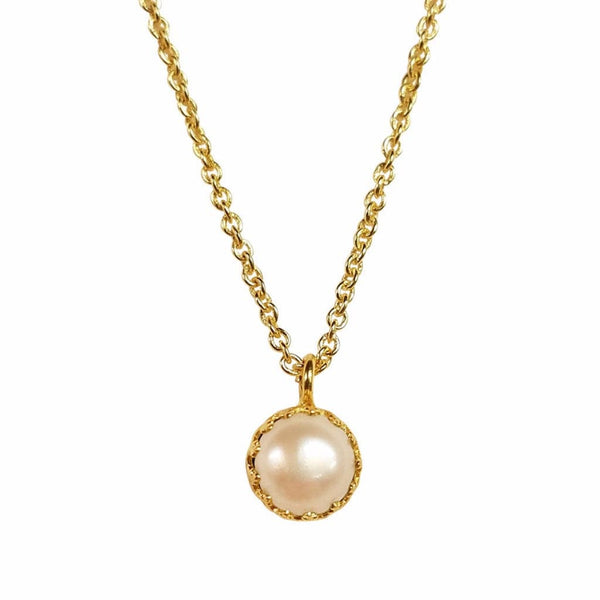 Rococo Necklace - Pearl, Necklace - Kevia Style, LLC