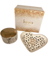 Marble Trinket Jar and Love You More Trinket Dish Set