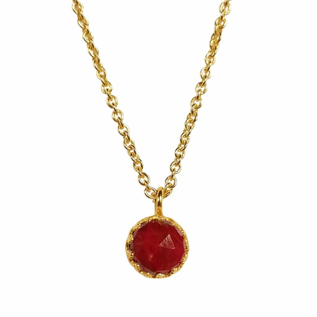 Rococo Necklace - Ruby Quartz, Necklace - Kevia Style, LLC