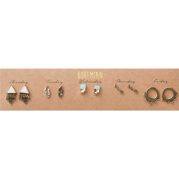Bohemian Post Earring Set, Earrings - Kevia Style, LLC