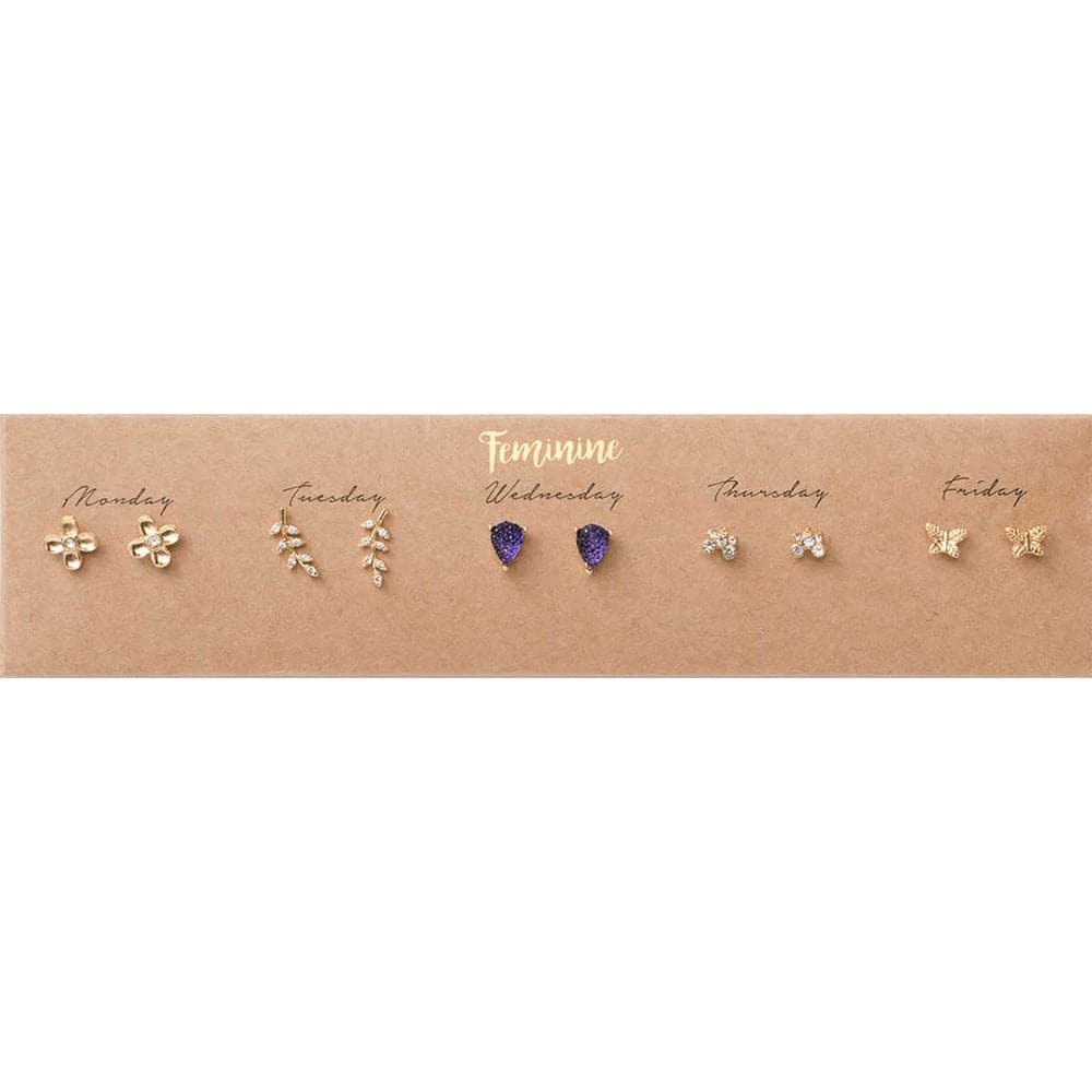 Feminine Post Earring Set, Earrings - Kevia Style, LLC