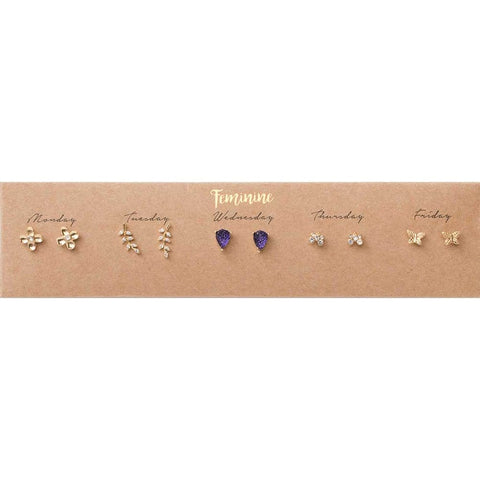 Feminine Post Earring Set